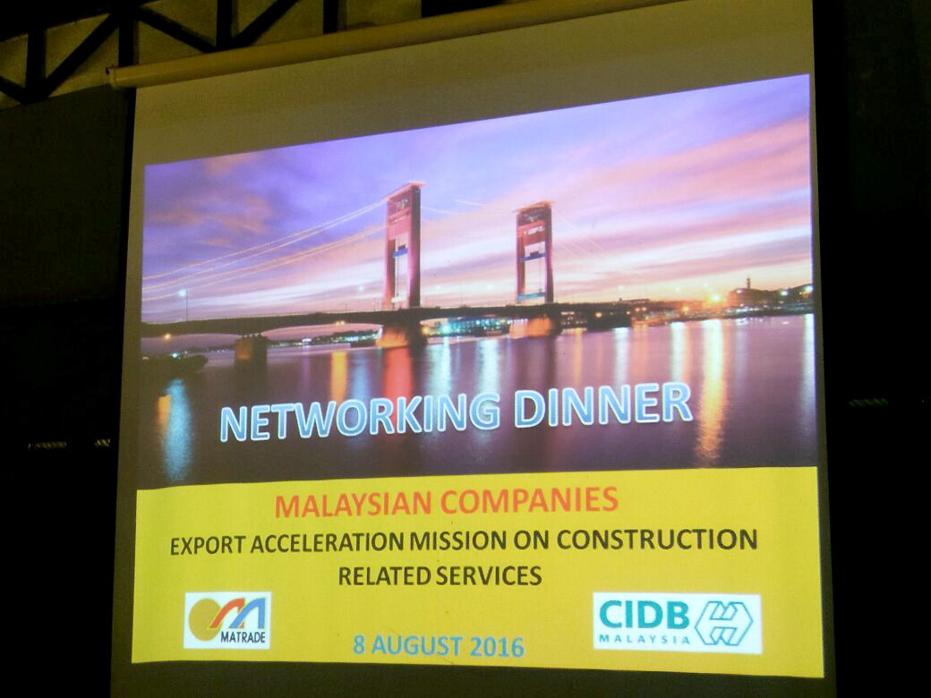 Networking Dinner - Malaysian Companies Export Acceleration Mission on Construction Related Service